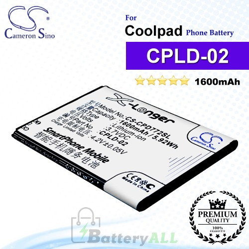 CS-CPD772SL For Coolpad Phone Battery Model CPLD-02