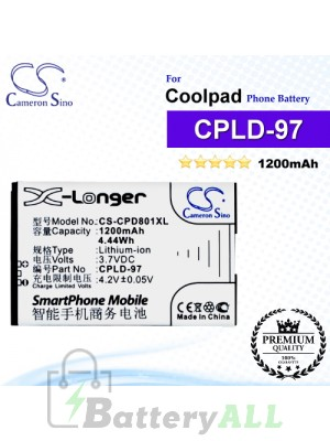 CS-CPD801XL For Coolpad Phone Battery Model CPLD-97