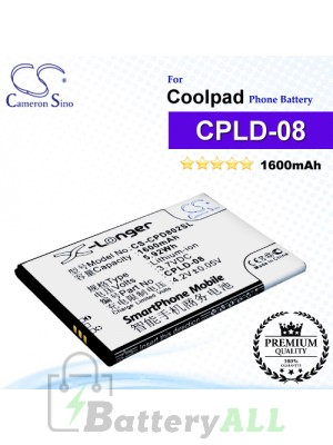 CS-CPD802SL For Coolpad Phone Battery Model CPLD-08