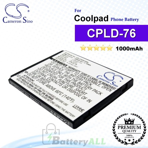 CS-CPD818SL For Coolpad Phone Battery Model CPLD-76