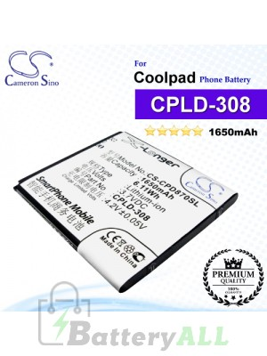 CS-CPD870SL For Coolpad Phone Battery Model CPLD-308