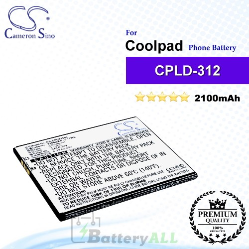 CS-CPD875SL For Coolpad Phone Battery Model CPLD-312 / CPLD-342 / CPLD-351