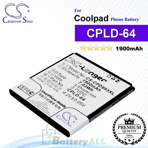 CS-CPD993XL For Coolpad Phone Battery Model CPLD-64