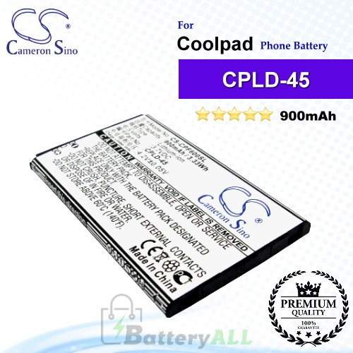 CS-CPF600SL For Coolpad Phone Battery Model CPLD-45