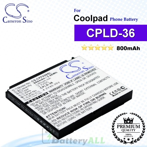 CS-CPF650SL For Coolpad Phone Battery Model CPLD-36