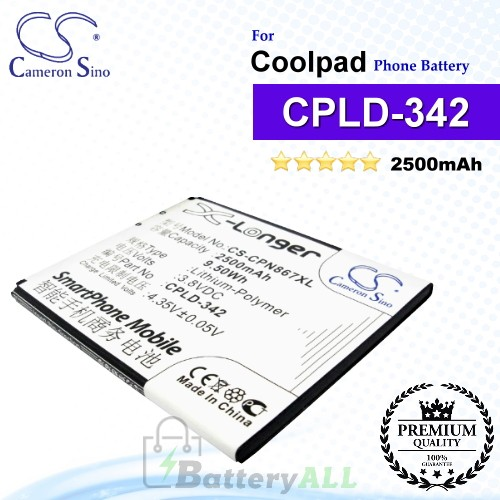 CS-CPN867XL For Coolpad Phone Battery Model CPLD-342