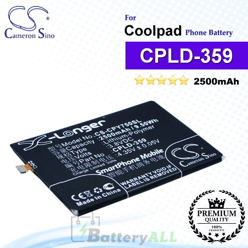 CS-CPY750SL For Coolpad Phone Battery Model CPLD-359