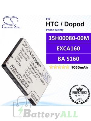CS-DC700SL For HTC / Dopod Phone Battery Model 35H00080-00M / EXCA160