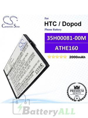 CS-DU1000SL For HTC / Dopod Phone Battery Model 35H00081-00M / ATHE160