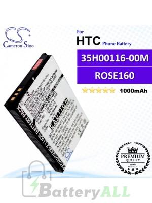 CS-HDS740SL For HTC Phone Battery Model 35H00116-00M / ROSE160