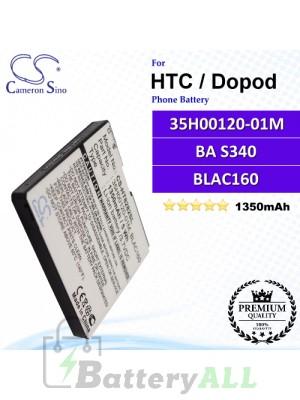 CS-HT8282SL For HTC / Dopod Phone Battery Model 35H00120-01M / BA S340 / BLAC160