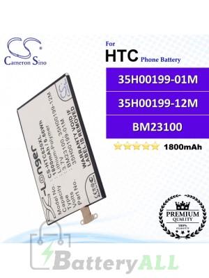 CS-HTC620XL For HTC Phone Battery Model 35H00199-01M / 35H00199-12M / BM23100 / BTR6990B