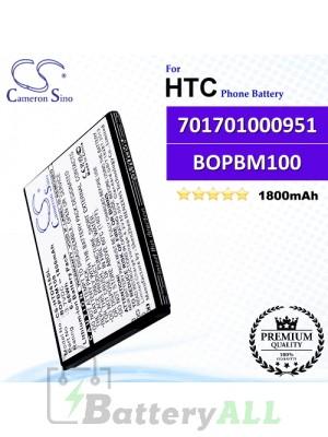 CS-HTD616SL For HTC Phone Battery Model 701701000951 / BOPBM100
