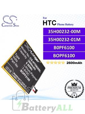 CS-HTD826SL For HTC Phone Battery Model 35H00232-00M / 35H00232-01M / B0PF6100 / BOPF6100