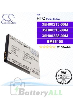 CS-HTE100XL For HTC Phone Battery Model 35H00213-00M / 35H00215-00M / 35H00228-00M / 35H00228-01M / 99H11740-00 / BA S930 / BA S970 / BM65100
