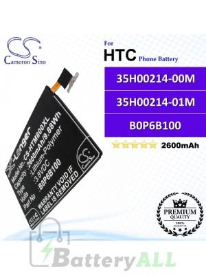 CS-HTM800XL For HTC Phone Battery Model 35H00214-00M / 35H00214-01M / B0P6B100 / BOP6B100