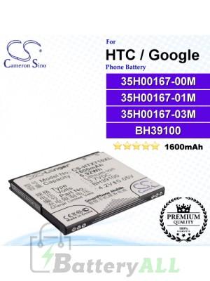 CS-HTX710XL For HTC / Google Phone Battery Model 35H00167-00M / 35H00167-01M / 35H00167-03M / BH39100