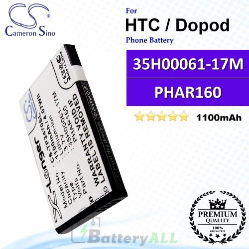 CS-TP3470SL For HTC / Dopod Phone Battery Model 35H00061-17M / PHAR160