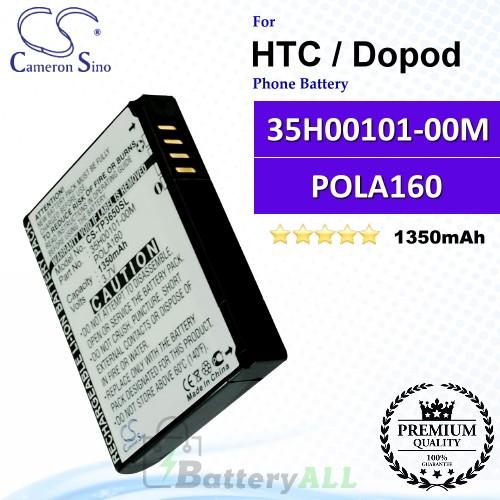 CS-TP3650SL For HTC / Dopod Phone Battery Model 35H00101-00M / POLA160