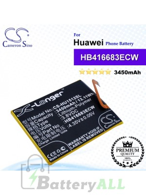 CS-HU1512SL For Huawei / Google Phone Battery Model HB416683ECW