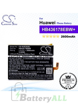 CS-HUE262SL For Huawei Phone Battery Model HB436178EBW / HB436178EBW+