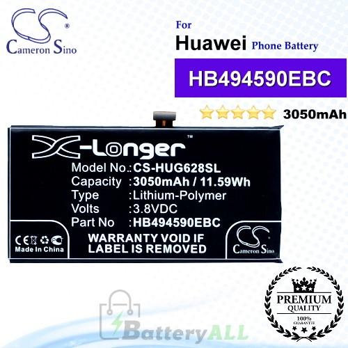 CS-HUG628SL For Huawei Phone Battery Model HB494590EBC