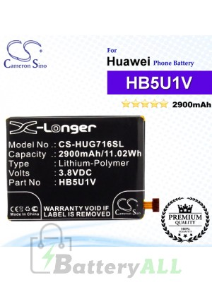CS-HUG716SL For Huawei Phone Battery Model HB5U1V