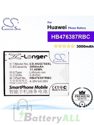 CS-HUG750XL For Huawei Phone Battery Model HB476387RBC