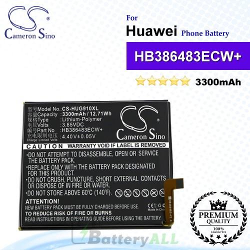 CS-HUG910XL For Huawei Phone Battery Model HB386483ECW+