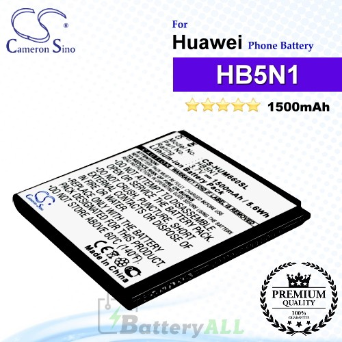 CS-HUM660SL For Huawei Phone Battery Model HB5N1 / HB5N1H