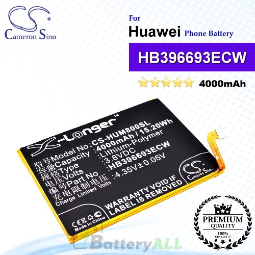 CS-HUM800SL For Huawei Phone Battery Model HB396693ECW