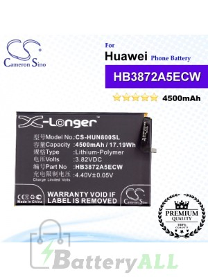 CS-HUN800SL For Huawei Phone Battery Model HB3872A5ECW