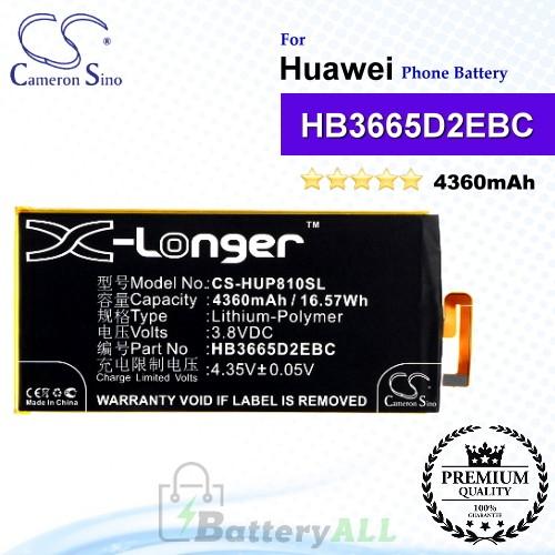 CS-HUP810SL For Huawei Phone Battery Model HB3665D2EBC