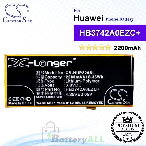 CS-HUP820SL For Huawei Phone Battery Model HB3742A0EZC / HB3742A0EZC+