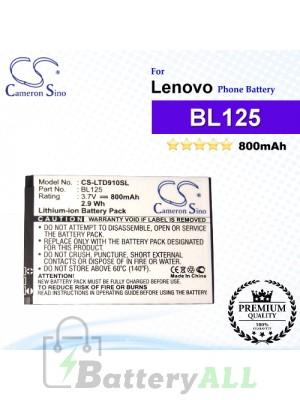CS-LTD910SL For Lenovo Phone Battery Model BL125