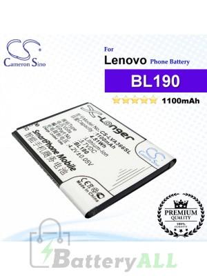 CS-LVA366SL For Lenovo Phone Battery Model BL190