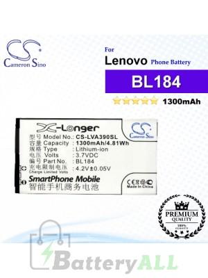 CS-LVA390SL For Lenovo Phone Battery Model BL184