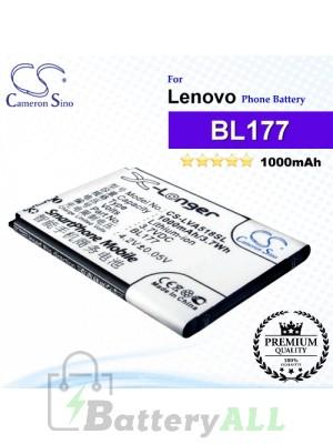 CS-LVA518SL For Lenovo Phone Battery Model BL177
