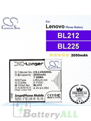CS-LVA620XL For Lenovo Phone Battery Model BL212 / BL225