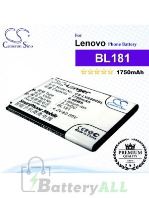 CS-LVA660SL For Lenovo Phone Battery Model BL181