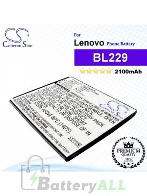 CS-LVA808SL For Lenovo Phone Battery Model BL229