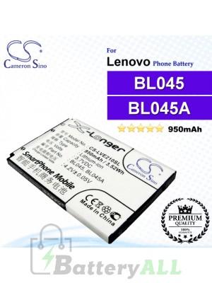 CS-LVE210SL For Lenovo Phone Battery Model BL045 / BL045A