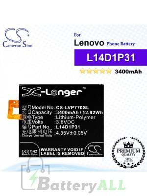 CS-LVP770SL For Lenovo Phone Battery Model L14D1P31