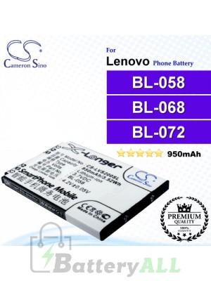 CS-LVS200SL For Lenovo Phone Battery Model BL-058 / BL-068 / BL-072