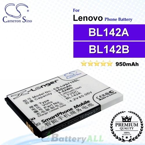 CS-LVS710SL For Lenovo Phone Battery Model BL142A / BL142B