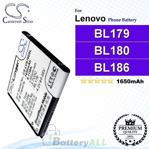 CS-LVS760SL For Lenovo Phone Battery Model BL179 / BL180 / BL186 / BL194 / BL200