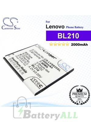 CS-LVS820SL For Lenovo Phone Battery Model BL210