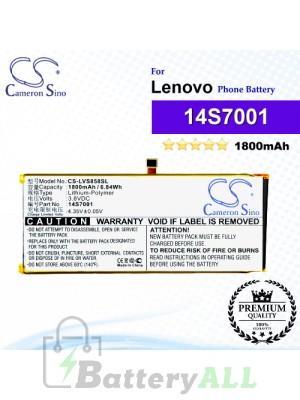 CS-LVS858SL For Lenovo Phone Battery Model 14S7001