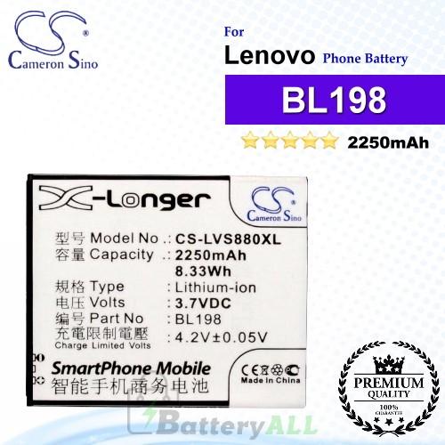 CS-LVS880XL For Lenovo Phone Battery Model BL198