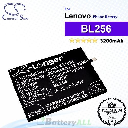 CS-LVX310SL For Lenovo Phone Battery Model BL256